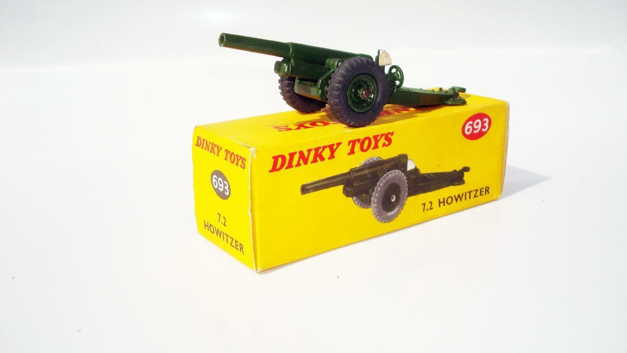 DINKY TOYS 693 7.2 HOWITZER BOXED  NR MINT CONDITION