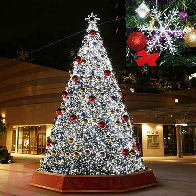 Uk 100pcs Christmas White Snowflakes Decorations Xmas Tree Party Ornaments