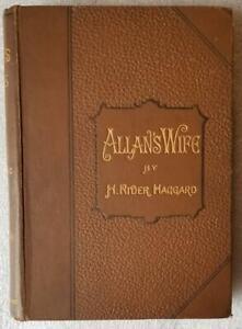 Allan S Wife By H Rider Haggard 1889 1st Edition Ebay