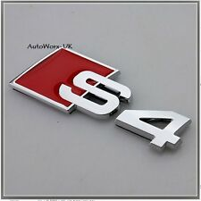 S4 Badge Emblem Decal Sticker Logo A4 RS4 RS S Audi boot lid rear trunk tailgate