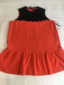 861ca1d2e8 Victoria Beckham for Target Plus Size Dress Orange Black Scallop ...