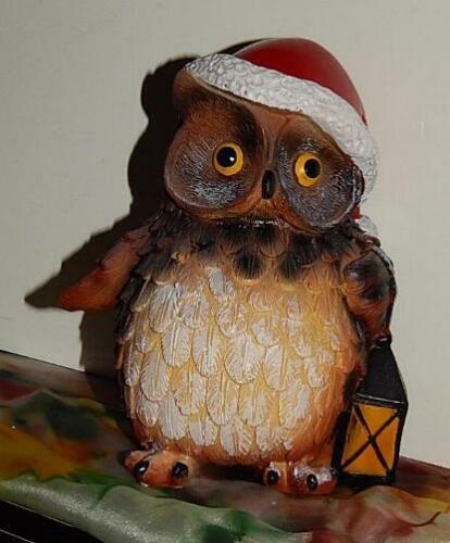 WeihnachtsMütze WEIHNACHTSEULE AdventsDEKO *Geschenk dicke XL Eule mit Laterne