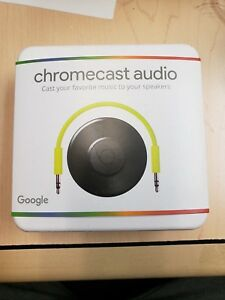 Google-Chromecast-Audio-Media-Streamer-Black-BRAND-NEW-SEALED
