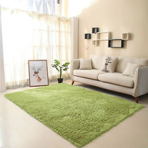 Details about Fluffy Soft Rugs Bedroom Floor Mat Anti-Skid Area Rug Dining  Room Home Carpet
