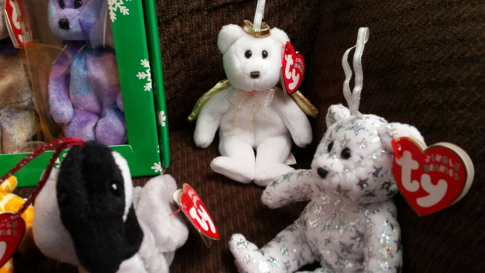 Lot 15 Jingle Beanies, Clubby Set, Halos, Peace, Peace, Peace, Mistletoe, Holiday Teddy & more eb034f