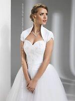 Wedding Bridal Satin Shrug Bolero Short Sleeves Sizes 6-16 (xs,s,m,l,xl,xxl)