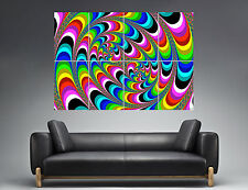 Multi Color Psychedelic Cercle Wall Art  Poster Grand format A0
