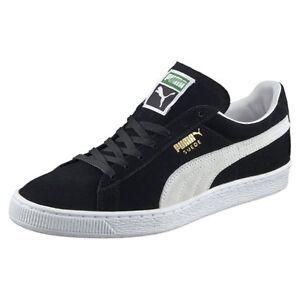 1c1b14f18f8 Puma Suede Classic Black   352634-03   Men s 60s Low + Plus White