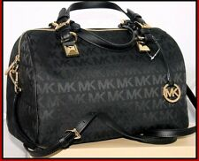 MICHAEL KORS NEW AUTHENTIC GRAYSON BLACK LARGE SATCHEL BAG w/DUST BAG NEW w/TAGS
