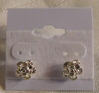 Jewelry Earrings Sterling Silver Stud Rose 6mm Beautiful Shiny Detailed