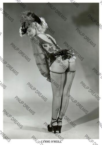 Vintage Wall Art Re-print of Burlesque Dancer Lynne O/'Neill The Garter Girl