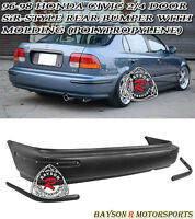 Sir-style Rear Bumper Cover With Molding Fits 96-98 Honda Civic 2/4dr