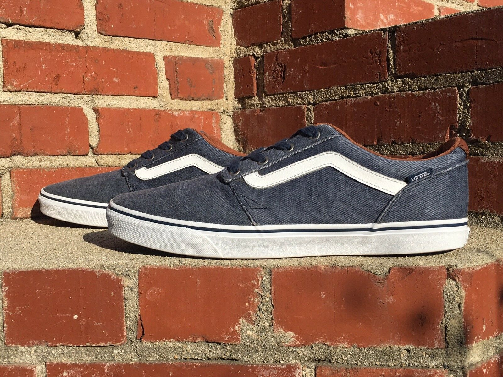 Vans Rare Style 721356 Blue w Rust Brown Lining Skate Shoe  Uomo Size 13