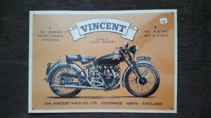 VINCENT-Serie-C-moto-Placa-metalica-litografiada-publicidad-39-x-28-cm-replica