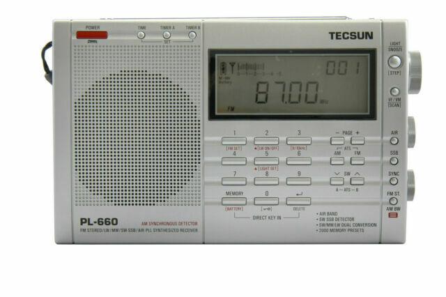 TECSUN PL-660 Portable AM Radio FM LW MW AIR SW-SSB Synthesized World Band Radio