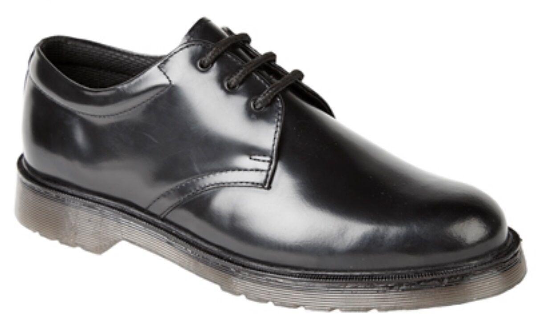 Grafters Hi-Shine Uniform shoes Padded Collar Air Cushion Air PVC Nitrile Sole