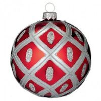 Waterford Holiday Heirlooms 4 Ruby Ball 2013 Opulence In Box