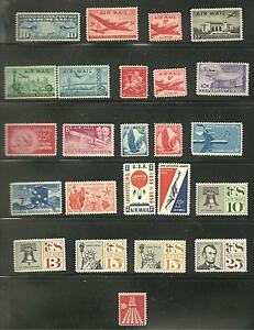 USA-EARLY-AIRMAIL-STAMP-LOT-MLH-MNH-HIGH-VALUE-S-2039