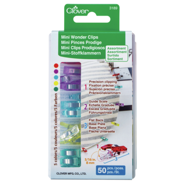 Clover Mini Wonder Clips 50 Pieces Sewing Quilting Part No 3189