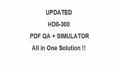 HDI Help Desk Manager Test  QA PDF/&Simulator