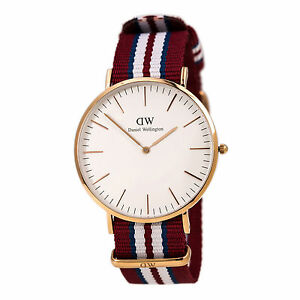 daniel wellington 0112dw men 039 s rose gold steel nylon strap image is loading daniel wellington 0112dw men 039 s rose gold