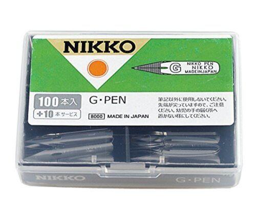 Tachikawa Nikko G Pen 110 pcs NG-100 Manga Comic Anime Made in Japan
