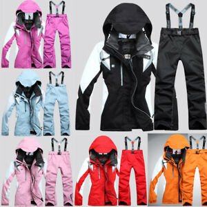 Women-039-s-Ski-Suit-Winter-Waterproof-Jacket-Coat-Snowboard-Clothing-Pants-New-Hot