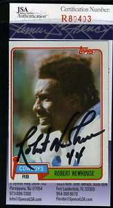 Robert-Newhouse-Jsa-Coa-Autographed-1981-Topps-Authentic-Signed-Cowboys
