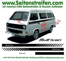 VW Bus T3 MULTIVAN EVO Custom - Seitenstreifen Aufkleber Dekor Komplett Set