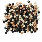 300X Wholesale Mixed Color Round DIY Wooden Pendant Beads 7-8mm