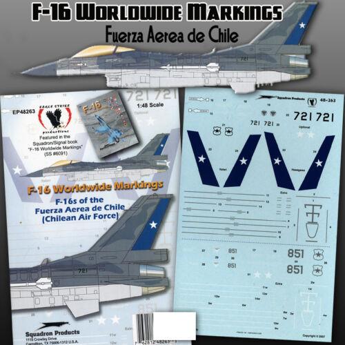 F-16 Weltweit Markierungen 1 // 48 Zeichen, Eagle Strike Fuerza Aerea De Chile