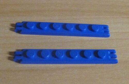 2 Stück -4504 Lego Technik Schanier Platten 1x6-2 u Ende Blau 3 Finger a