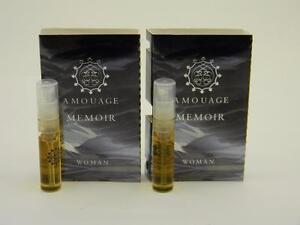 2 X Amouage Memoir Woman Edp Eau De Parfum 2ml Vial Spray New With