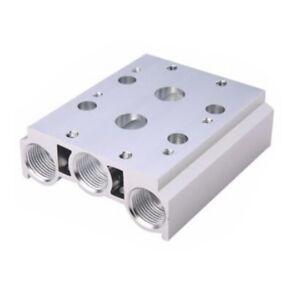 Bloque De Cerámica 1PC base 2 estaciones Solenoide Válvula neumática G1//4 10mm Diámetro