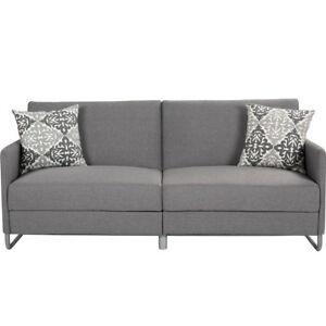 Modern-Futon-Sofa-Bed-Convertible-Recliner-Couch-Splitback-Sleeper-Dorm-Gray