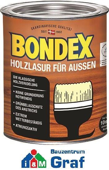 Bondex Holzlasur für außen 0,75l / Verschiedene Farben / #873