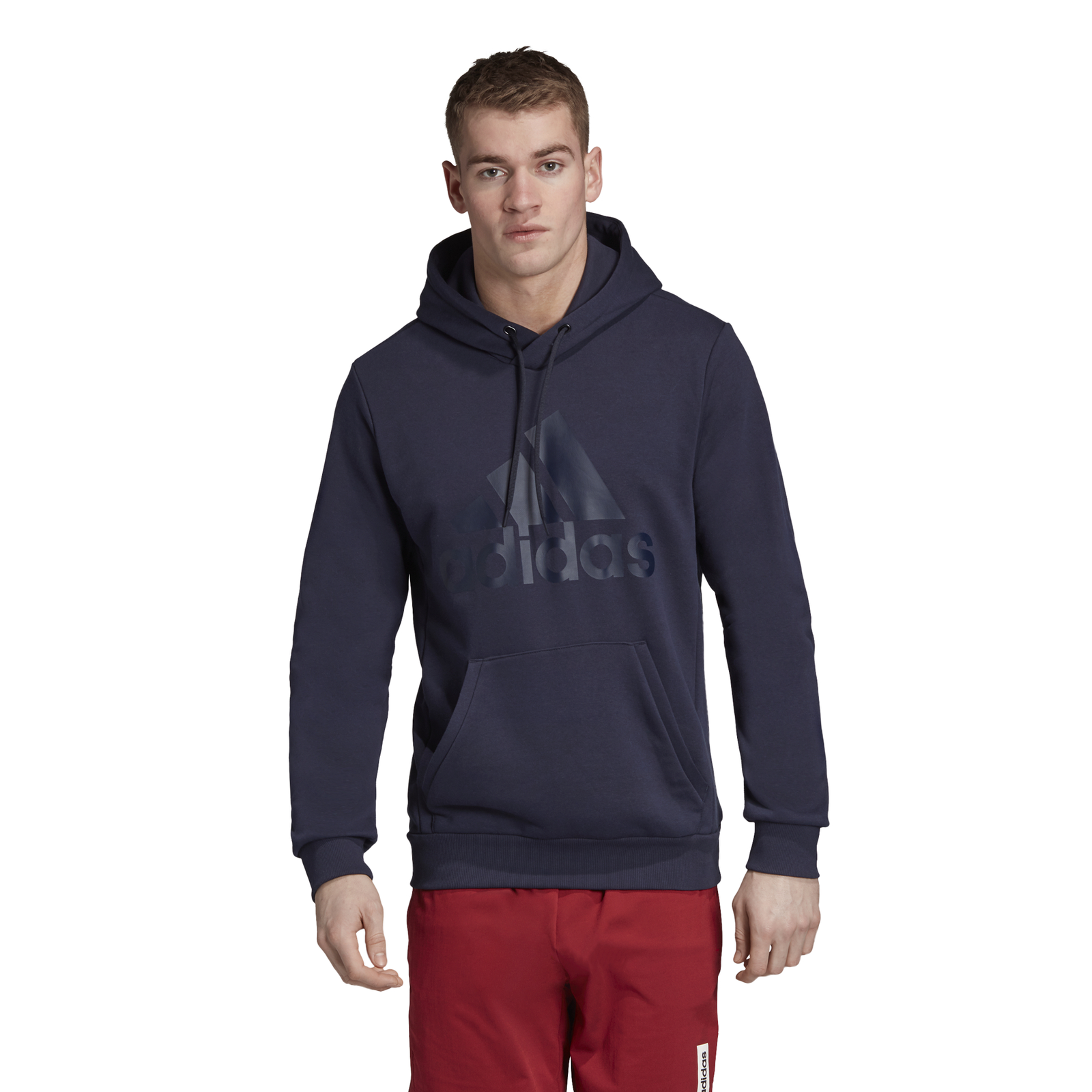 ADIDAS Performance Uomo con Cappuccio Felpa must have of Sport Hoodie Blu