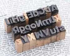 A-Z  Mix 11mm Alphabet Holzlettern Plakatschrift Lettern Buchstaben wood type