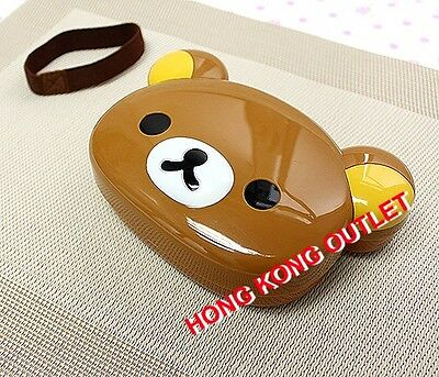 San-x Rilakkuma Relax Bear DieCut Bento Lunch Box Case Container with Belt  E45a