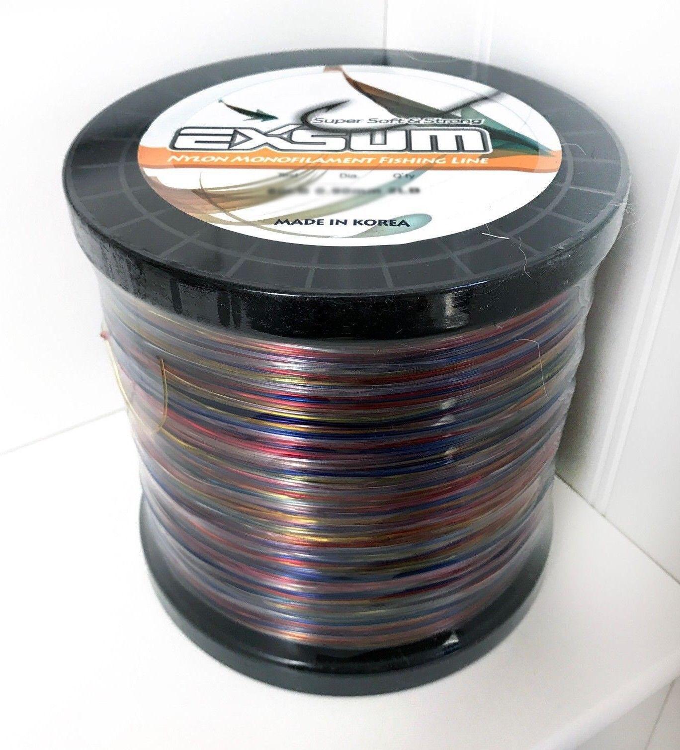 EXSUM Nylon Monofilament Fishing Line Super Soft Strong 150LB 5LB - Rainbow Camo