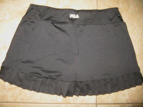 Fila Womens Black Golf Tennis Athletic Skort Short