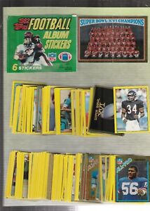1982-Topps-Football-Sticker-Set-288-Mint-With-Free-Unused-Album