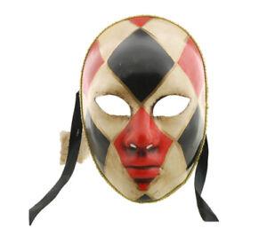 Masque De Venise Authentique Arlequin Fait Main Carnaval Venise 37