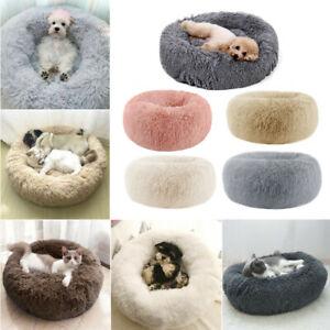 Haustier-Pluesch-Hundebett-Hund-Katze-Bett-Nest-Kissen-Weich-Flauschig-Tierbett-H
