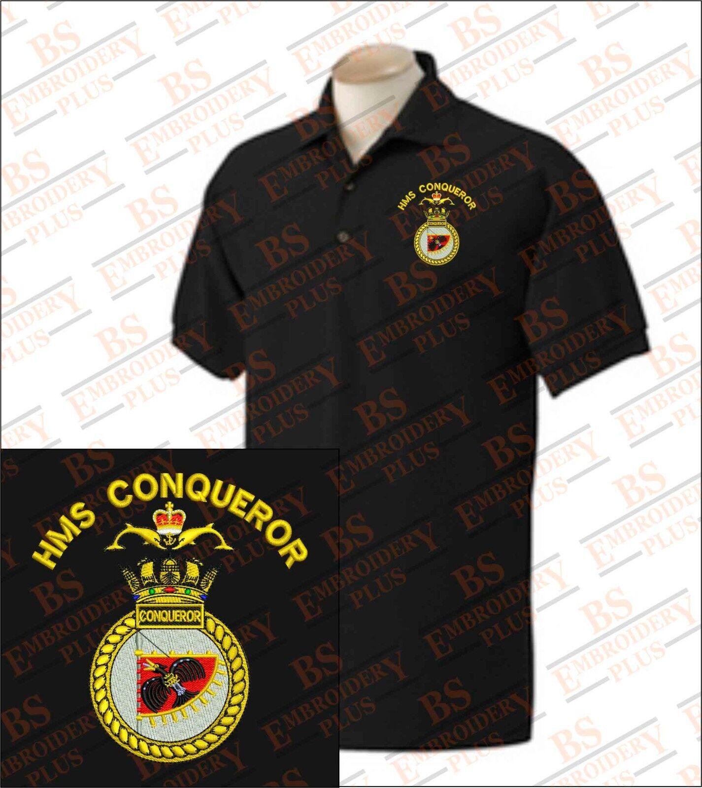 HMS Conqueror Embroidered Polo Shirts