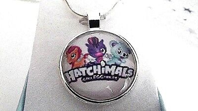 HATCHIMALS PHOTO PENDANT SILVER PLATED CHAIN age 3,4,5,6,7,8 YEAR GIFT BOX PARTY