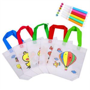 DIY-Handmade-Coloring-Handbag-Material-Kit-Educational-Drawing-Toy-Color-Random