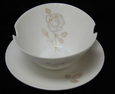Gravy Boat and Underplate - Rosenthal Classic Rose Raymond Loewy [S7411]
