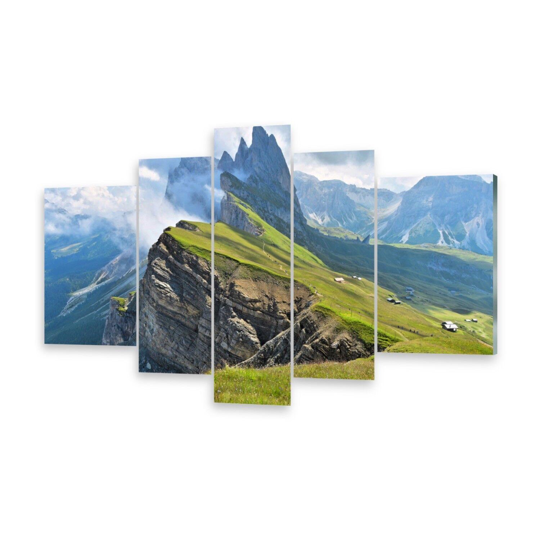 Mehrteilige Bilder Acrylglasbilder Wandbild Bergkette