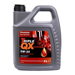 Engine Oil Triple QX Premium SAE 5W30 Part Semi Synthetic 5L Ford Spec 5 Litre